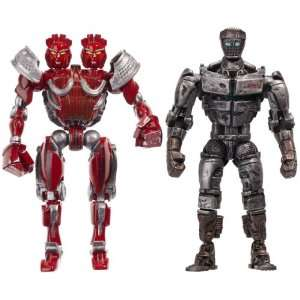 Real Steel Figure 2 Pack Atom Vs. Twin Cities : Toys & Games :