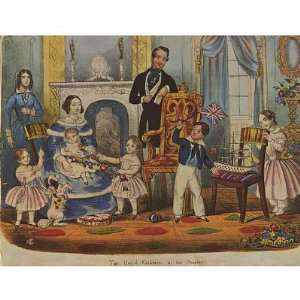 princes and princesses in their game room. Queen Victoria with Prince