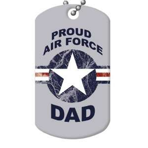 Proud Air Force Dad Dog Tag and Chain Everything Else
