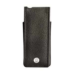 Black Suit Premium Leather Flip Case For iPod nan