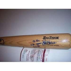 Bob Horner Autographed Bat   78 Roy Jsa coa Big Stick   Autographed