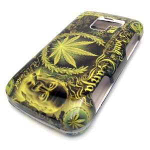 Green Leaf Ganja Design Hard Case Cover Skin Protector Straight Talk