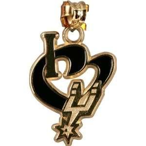 San Antonio Spurs 14K Gold I Heart Logo 3/4 Enamel