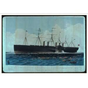 Historic Print (M): The iron steam ship Great Eastern 22 F.R.S.    D 