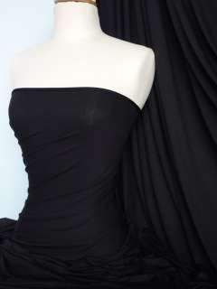 Black viscose cotton stretch lycra fabric material