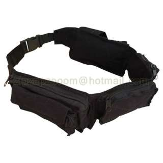 Army Combat Utility Belt Retro Travel Bum Bag Black