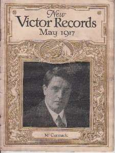 John McCormack Victor Talking Machine Record Promotion Booklet 1917