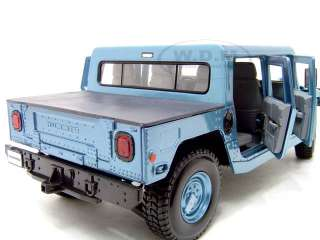 Hummer H1 Hard Top Diecast Model Car 1/18 Blue Die Cast Car By Maisto
