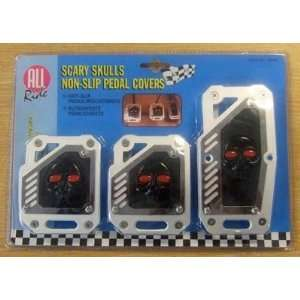 All Ride Scary Skulls Non Slip Pedal Covers: .co.uk: Garden