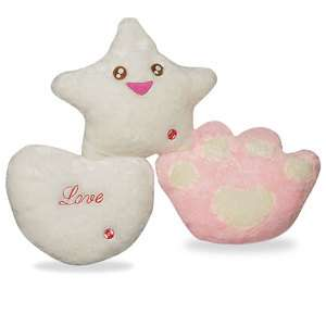 Color Chaning LED Cushion Pillow   Happy Star / Romantic Heart / Cute