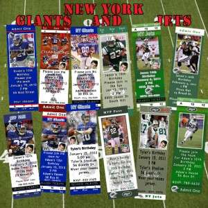 Birthday Invitations & Thank You Cards New York Giants & New York Jets