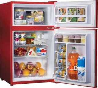 Mini Fridge & Freezer, Compact Retro Small Dorm Refrigerator, Food Ice