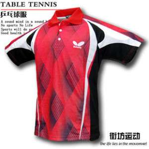 New Butterfly Men Badminton / Table Tennis Shirt 9336