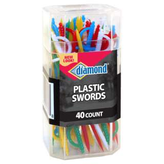 Diamond Plastic Sword Toothpicks 40ct: Kitchen & Dining