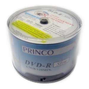 DVD R 24x High Quality Princo Slim White Logo Printed Blank Media