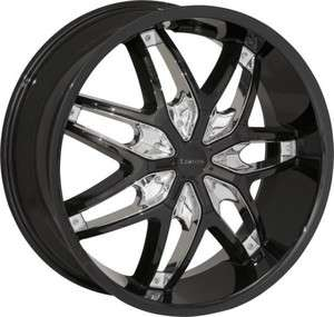 28 BLACK+CHROME RIMS / wheels SUV TRUCK LIMITED 506 NEW