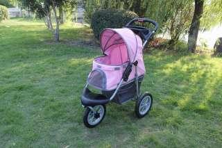 BestPet Pink Sporty Pet Jogger Jogging Dog Cat Stroller Carrier