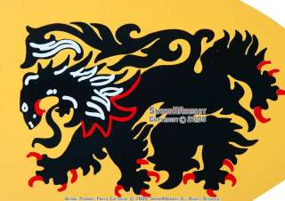 German Cacider Lion Medieval Knight Heater Shield Armor