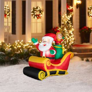 New 7 ft animated christmas inflatable santa elf train for Motor for inflatable decoration
