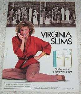 1984 Virginia Slims cigarettes Egyptian Mummy museum AD
