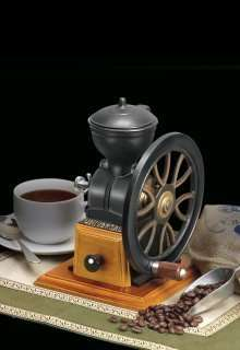 Cast Iron & Wood Coffee Grinder Nuts Spice Grains Too