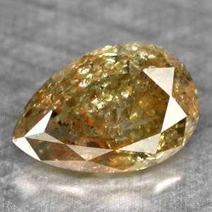 44cts~PEAR FANCY BI COLOR NATURAL LOOSE DIAMOND
