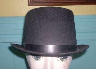 Short Black Felt TOP HAT costume dance formal tuxedo