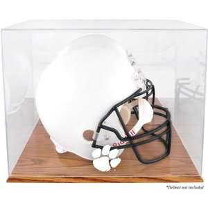 NCAA   Clemson Tigers Team Logo Helmet Display Case  Details Oak
