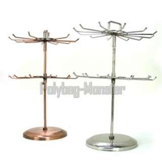 Bronze Double Wheel Display Rack Jewelry Holder Stand