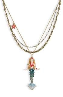 Betsey Johnson Mermaids Tale Statement Pendant Long Necklace
