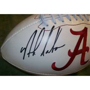 NICK SABAN SIGNED AUTOGRAPHED FOOTBALL ALABAMA CRIMSON TIDE COA