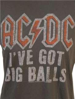 Mens ACDC Big Balls Rock T Shirt Junk Food NEW