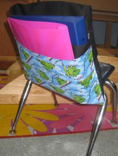 Chair Pocket Seat Desk Sack *READING IS COOL* 2 POCKETS ORGANIZE FOR