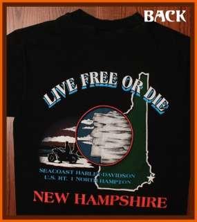Harley Davidson New Hampshire Motorcycle Biker T Shirt S