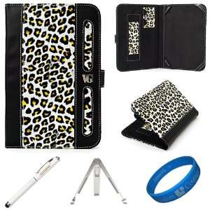 Dauphine Edition Yellow Leopard Executive Leather Folio Case Cover for
