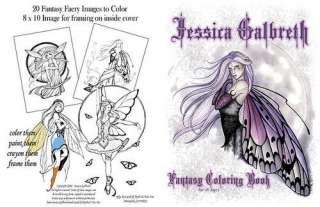 Jessica Galbreth Fantasy Fairy Coloring Book