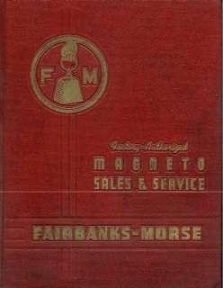 FAIRBANKS MORSE MAGNETO MASTER PARTS BOOK MANUAL on CD