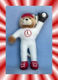 VTG MLB ST LOUIS CARDINALS BASEBALL TEDDY BEAR PLUSH