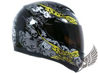 Dual Visor Full Face Motorcycle Helmet Matte Black ~ S