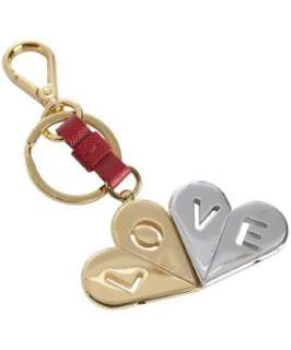 Prada gold Love heart charm key chain