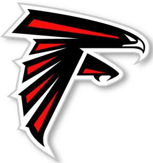 ATLANTA FALCONS   NFL Logo wall,window,sticker,decal