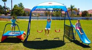 Premier100 Fitness Playground Trampoline / Swing Set Outdoor Play Yard