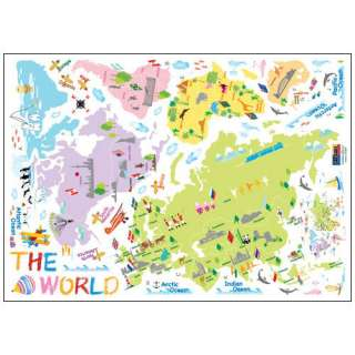 THE WORLD MAP WALL DECAL REMOVABLE DECOR STICKERS 119