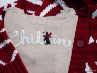 Gymboree Penguin Chalet 4 Pc Cardigan Tee Skirt & Leggings Sz 7 NWT