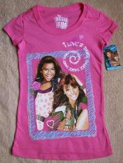 Disneys SHAKE IT UP *I Love 2 Dance* Pink Tee T Shirt sz 6/7