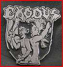 exodus metal pin badge bonded by blood anthrax fueled by