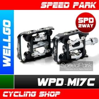 WELLGO M17C CLIPLESS/FLAT PLATFORM MTB SPD PEDALS BLACK