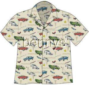 NEW Pontiac GTO Firebird Cars Camp Hawaiian Shirt, XL
