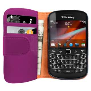 London Magic Store   AIO Purple Wallet Leather Case For Blackberry