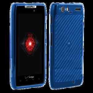 XT912 Droid RAZR Blue High Gloss Silicone Cover Case OEM Verizon